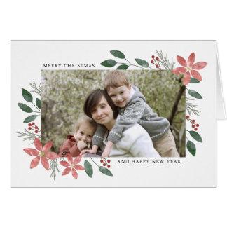 Día de fiesta floral - tarjeta de felicitación de
