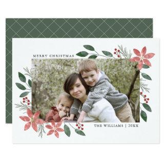 Día de fiesta floral - tarjeta de la foto del