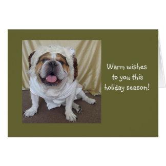 Día de fiesta inglés del dogo/tarjetas de Navidad Tarjeta De Felicitación