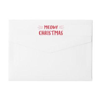 Día de fiesta lindo del gato del navidad el | de etiquetas postales