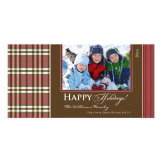 Día de fiesta Photocard de la familia de la tela e Tarjetas Fotográficas Personalizadas