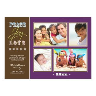Día de fiesta Photocard de la familia del Invitación 12,7 X 17,8 Cm