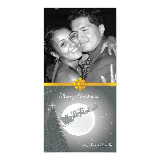 Día de fiesta Photocard de la familia del navidad  Tarjeta Fotográfica
