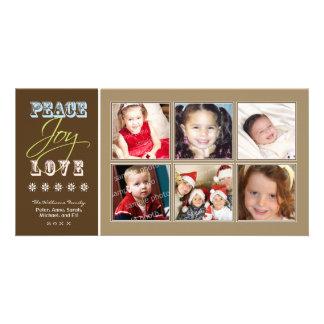 Día de fiesta Photocard de la familia del Tarjetas Fotográficas Personalizadas