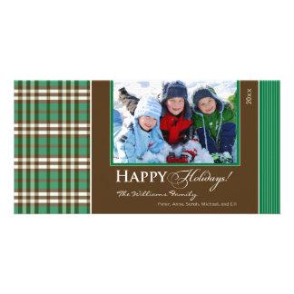 Día de fiesta Photocard (verde) de la familia de l Tarjetas Personales