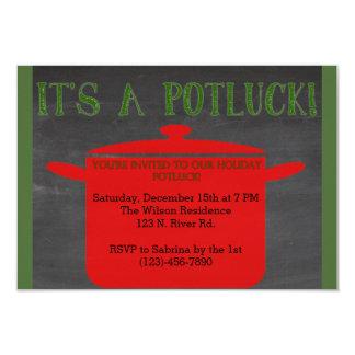 Día de fiesta Potluck del navidad Invitaciones Personales
