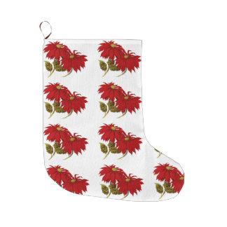 Día de fiesta rojo elegante del navidad del modelo calcetín navideño grande
