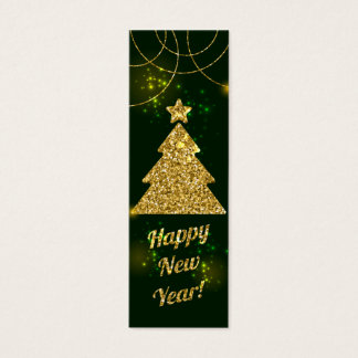 Día de fiesta verde del navidad de la Feliz Año Tarjeta De Visita Pequeña