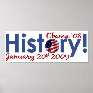 Día de inauguración de Obama Posters