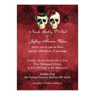 Día de invitación muerta del boda del novio de la