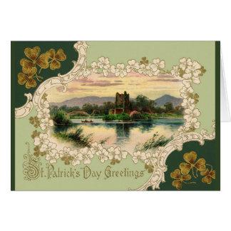 Día de Killarney St Patrick del castillo de Ross Tarjeta De Felicitación