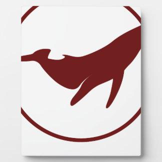 Día de la ballena del mundo - día del aprecio placa expositora