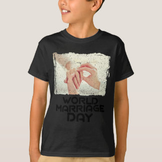 Día de la boda del mundo - día del aprecio camiseta