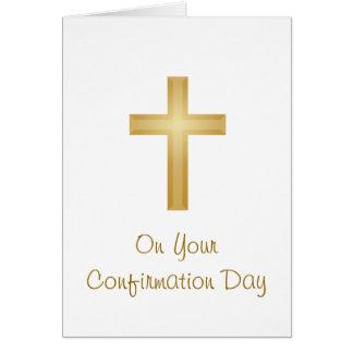 Día de la confirmación tarjeta de felicitación