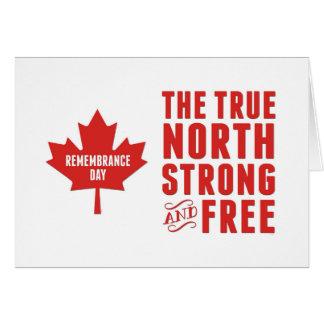 Día de la conmemoración, el 11 de noviembre, tarjeta de felicitación