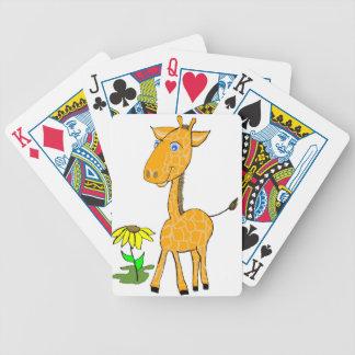 día de la diversión de la jirafa baraja de cartas bicycle