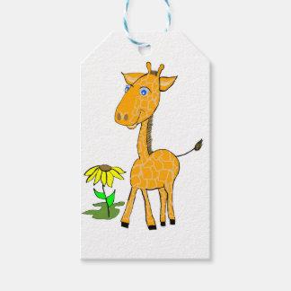 día de la diversión de la jirafa etiquetas para regalos