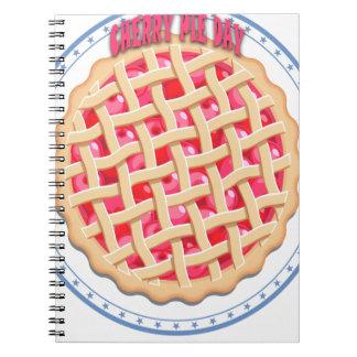 Día de la empanada de la cereza - día del aprecio cuaderno