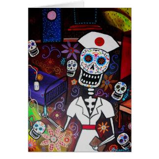 Día de la enfermera de los muertos tarjeta