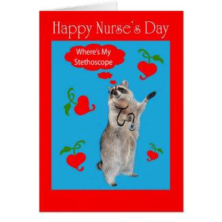 día de la enfermera tarjeta de felicitación