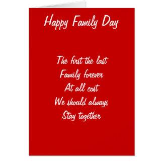 Día de la familia tarjeta de felicitación