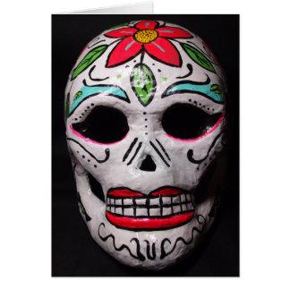 Día de la flor de la tarjeta muerta de la máscara