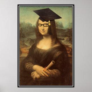 Día de la graduación de Mona Lisa Póster