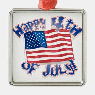 Día de la Independencia 4 de julio Ornamentos De Navidad