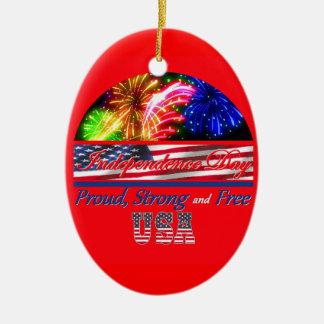Día de la Independencia Ornamentos De Navidad