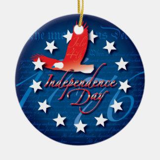Día de la Independencia Adorno Redondo De Cerámica