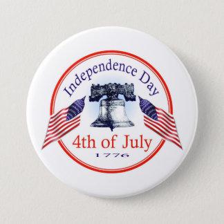 Día de la Independencia Chapa Redonda De 7 Cm
