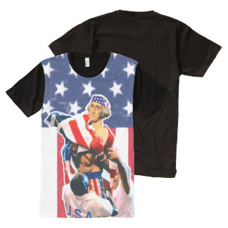 Día de la Independencia de George Washington Camiseta Con Estampado Integral