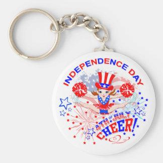 Día de la Independencia, el 4 de julio, llavero de