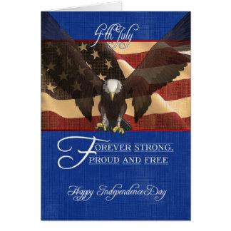 Día de la Independencia, el cuarto de julio, el 4 Tarjeta De Felicitación