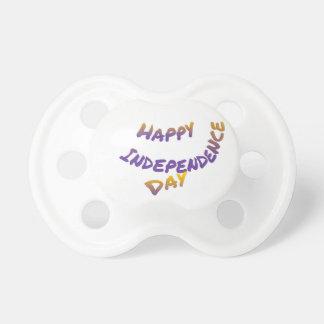 Día de la Independencia feliz, arte colorido de la Chupete