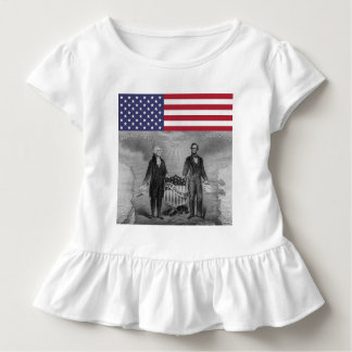 Día de la Independencia George Washington Abraham Camiseta De Bebé
