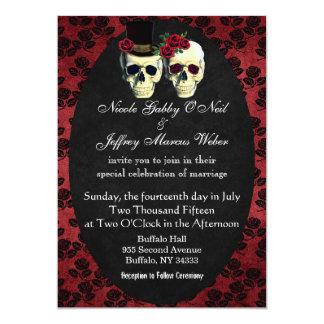 Día de la invitación muerta del boda de novia y