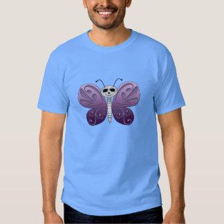 Día de la mariposa del diseño muerto camisetas