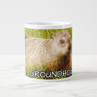 ¡Día de la marmota de Feliz! taza