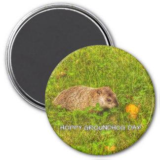 ¡Día de la marmota de lúpulo! imán