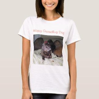 Día de la marmota feliz camiseta