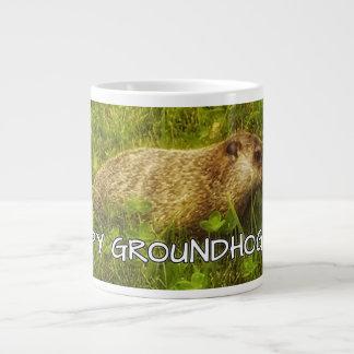 ¡Día de la marmota feliz! taza