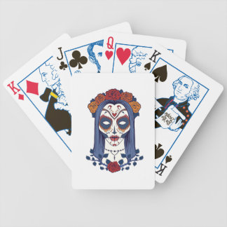 Día de la mujer de los muertos baraja de cartas bicycle