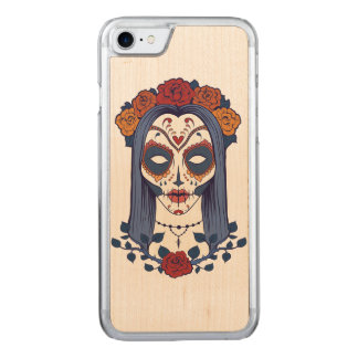 Día de la mujer de los muertos funda para iPhone 7 de carved