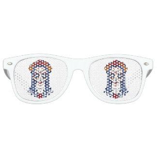 Día de la mujer de los muertos gafas de fiesta retro
