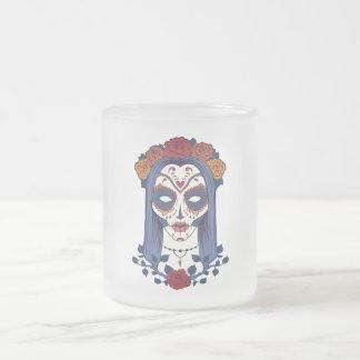 Día de la mujer de los muertos taza de café esmerilada