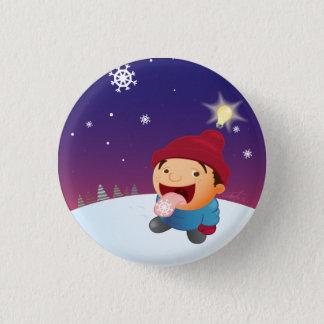 Día de la nieve chapa redonda de 2,5 cm