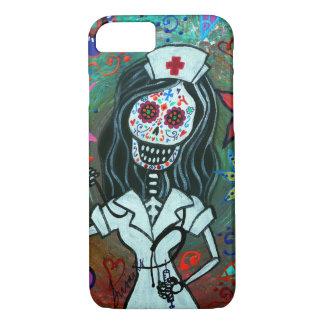 Día de la pintura muerta de la enfermera funda para iPhone 8/7