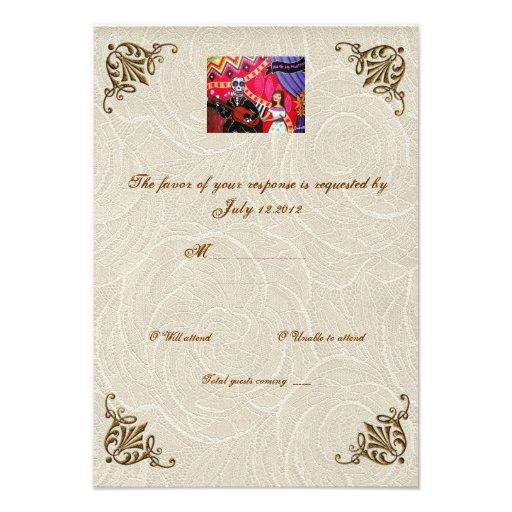 Día de la serenata de RSVP que se casa muerto Invitacion Personal