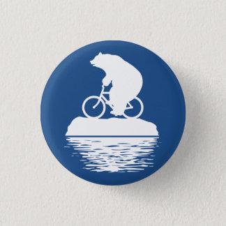 DÍA DE LA TIERRA: Botón de la bicicleta del oso